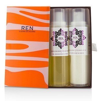 RenMorococann Rose Duo: Body Wash 200ml/6.8oz + Body Lotion 200ml/6.8oz 2pcs