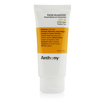 Anthony Logistics For Men Humectante Facial SPF 30  90ml/3oz