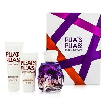 Issey Miyake Pleats Please Coffret: EDP Spray 100ml/3.3oz + Body Lotion 75ml/2.5 ladies fragrance