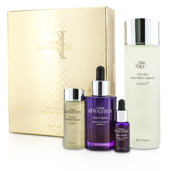MisshaTime Revolution Best Seller Special Gift Set II: Essence + Ampoule + Miniature Essence + Miniature Ampoule 4pcs