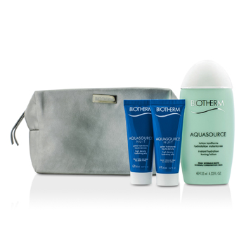 Biotherm Aquasource �����: ���������� ����������� ���������� ������ 125�� + ����������� ���� 2x20�� + �����  3pcs+1bag