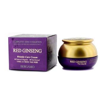 Bergamo Wrinkle Care Cream - Red Ginseng (Natural Organic / Nutritional) 50g/1.7oz