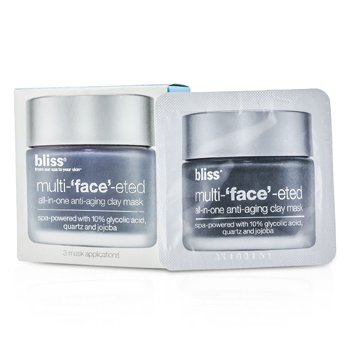 BlissMulti-Face-Eted All-In-One Anti-Aging Clay Mask 3x(4g/0.14oz)
