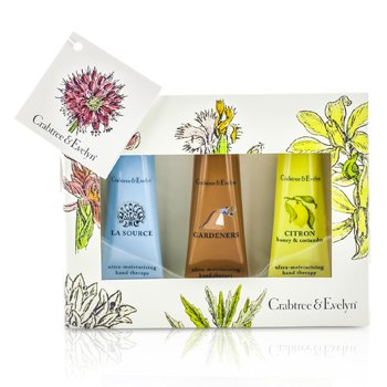 Crabtree & Evelyn Best Seller Set Crema de Manos: La Source 25g + Gardeners 25g + Citron 25g  3x25g/0.9oz