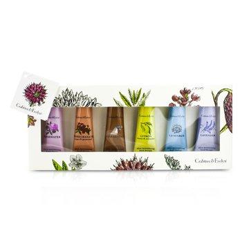 Crabtree & Evelyn Best Seller Set Crema de Manos: La Source 25g + Gardeners 25g + Rosewater 25g + Lavender 25g + Citron 25g + Pomegranate 25g  6x25g/0.9oz
