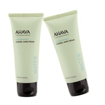 AhavaDeadsea Water Mineral Hand Cream Duo Pack (Unboxed) 2x100ml/3.4oz