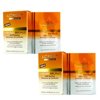 L`Oreal Sublime Bronze Self-Tanning Perfector & Corrector Duo Pack 2x8x2ml/0.06oz