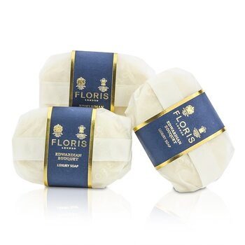 Floris Edwardian Bouquet Luxury Soap  3x100g/3.5oz