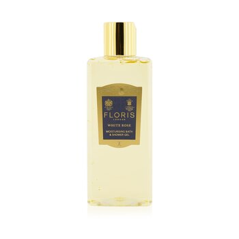 FlorisWhite Rose Moisturising Bath & Shower Gel 250ml/8.5oz