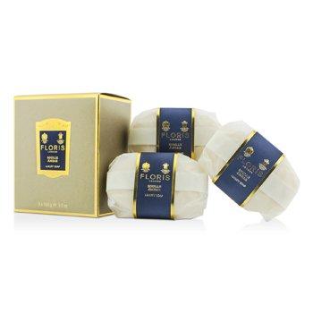 Floris Soulle Ambar Luxury Soap  3x100g/3.5oz