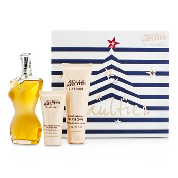 Jean Paul GaultierLe Classique Coffret: Eau De Toilette Spray 100ml/3.3oz + Loci�n Corporal 75ml/2.5oz + Gel de Ducha 30ml/1oz 3pcs
