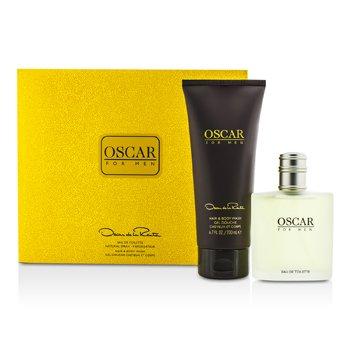 Oscar De La RentaOscar Coffret: Eau De Toilette Spray 100ml/3.4oz + Gel Limpiador para Cabello y Cuerpo 200ml/6.7oz 2pcs