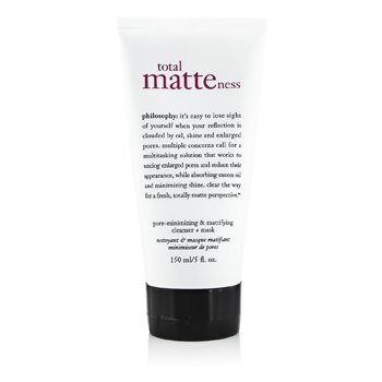 PhilosophyTotal Matteness Pore-Minimizing & Mattifying Cleanser + Mask (Unboxed) 150ml/5oz