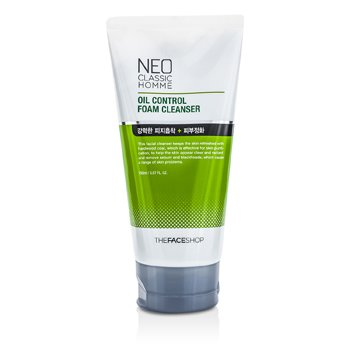 The Face Shop Neo Classic Homme Oil Control Foam Cleanser 150ml/5.07oz