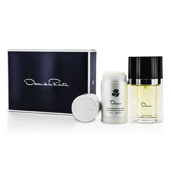 Oscar De La Renta Oscar Coffret: Eau De Toilette Spray 50ml/1.7oz + Desodorante en Barra 75g/2.5oz  2pcs