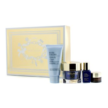 Estee LauderSkintone/Spot Correction Essentials Set: Enlighten Creme 50ml + Serum 15ml + ANR Eye Complex II 5ml + Perfectly Clean 50ml 4pcs