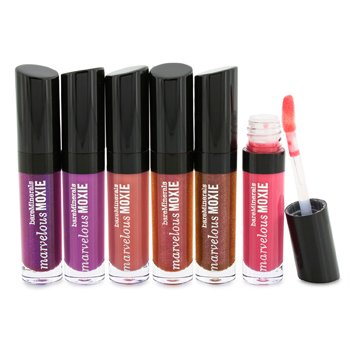 Bare EscentualsBareMinerals Kissing Booth Mini Marvelous Moxie Lipgloss Collection 6x2.25ml/0.07oz