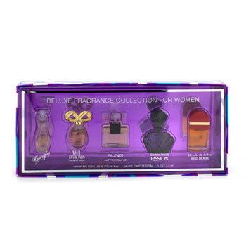 Elizabeth ArdenDeluxe Fragrance Collection: Red Door + Passion + White Diamonds + Sung + Giorgio 5pcs