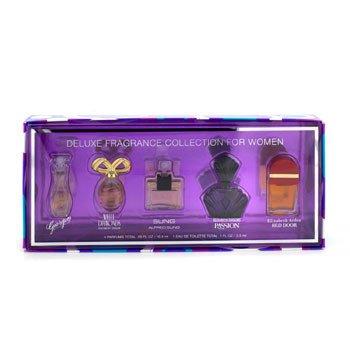 Elizabeth Arden Deluxe Fragrance Collection: Red Door + Passion + White Diamonds + Sung + Giorgio 5pcs