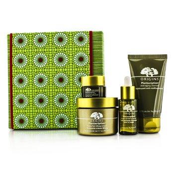 OriginsPlantscription Set: Cleanser 50ml + Cream 50ml + Face Oil 15ml + Eye Cream 5ml 4pcs