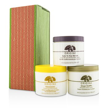OriginsBody Souffle Trio Set: Ginger 125ml/4oz + Grapefruit 125ml/4oz + Lavender and Vanilla 125ml/4oz 3pcs
