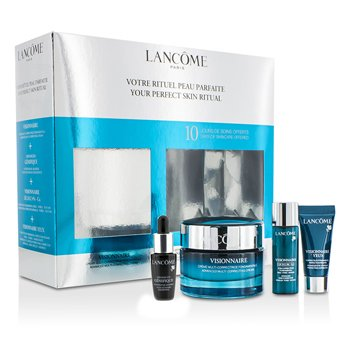 Lanc�meYour Perfect Skin Ritual: Visionnaire Cream 50ml + Concentrate 7ml + Skin Corrector 7ml + Eye Corrector 5ml 4pcs