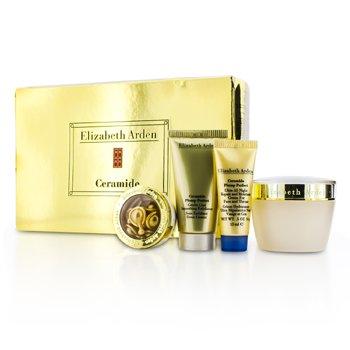 Elizabeth ArdenSet Ceramide Plump Perfect: Crema Humectante 50ml + Exfoliante 30ml + Crema Noche 15ml + C�psulas 3.2ml (Caja Ligeramente Da�ada) 4pcs
