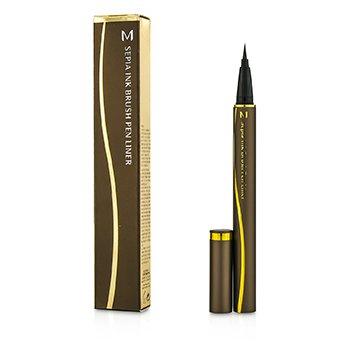 MisshaM Sephia Ink Brush Pen Liner - #Dark Brown 0.6g/0.02oz
