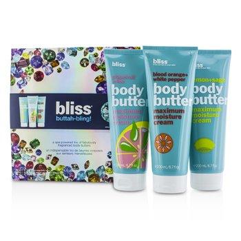 Bliss Buttah Bling Holiday Set: Lemon + Sage + Blood Orange + White Pepper + Grapefruit + Aloe  3pcs