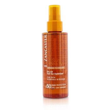 Lancaster Suchy olejek z filtrem UV przy�pieszaj�cy opalenizn� Sun Beauty Dry Oil Fast Tan Optimizer SPF 50  150ml/5oz
