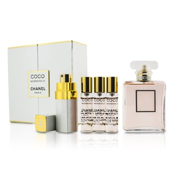 Chanel Coco Mademoiselle Coffret: Eau De Parfum Spray 50ml/1.7oz + Purse Spray with 3 Refills 4x7.5ml  5pcs