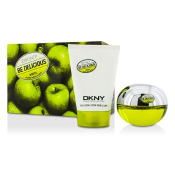 DKNY Be Delicious Coffret: Eau De Parfum Spray 50ml/1.7oz + Body Lotion 100ml/3.4oz 2pcs