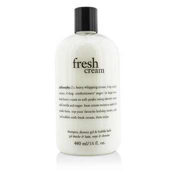 PhilosophyFresh Cream Shampoo, Shower Gel & Bubble Bath 480ml/16oz