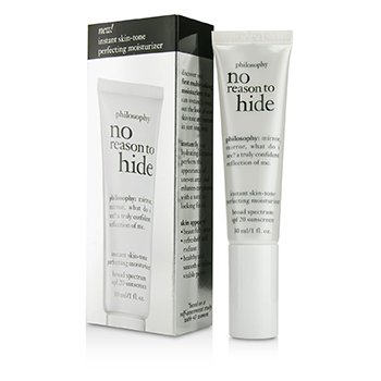 PhilosophyNo Reason To Hide Instant Skin-tone Perfecting Moisturizer SPF 20 - Light 30ml/1oz