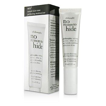 PhilosophyNo Reason To Hide Instant Skin-tone Perfecting Moisturizer SPF 20 - Light 30ml/1oz