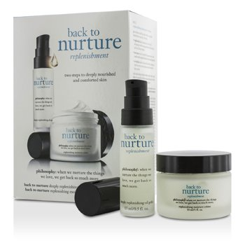 PhilosophyBack To Nurture Set: 1x Deeply Replenishing Oil Gelee 15ml/0.5oz, 1x Replenishing Moisture Creme 30ml/1oz 2pcs