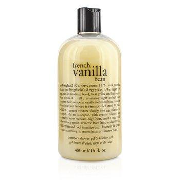 PhilosophyFrench Vanilla Bean Shampoo, Shower Gel & Bubble Bath 480ml/16oz