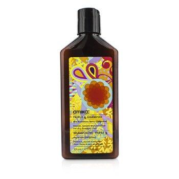 Amika Triple RX Shampoo (For Dry, Damaged Hair)  300ml/10.1oz