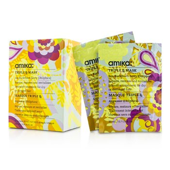 Triple RX Mask (For Dry  Damaged Hair) Amika Triple RX Mask (For Dry  Damaged Hair) 10x20ml/0.7oz