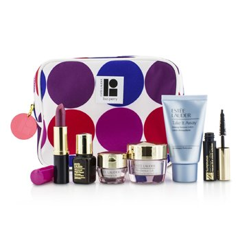 Estee LauderTravel Set: Makeup Remover 30ml + Revitalizing Supreme Creme 15ml + Eye Balm 5ml + ANR II 7ml + Mascara 2.8ml + Lipstick #61 3.8g + Bag 6pcs+1bag
