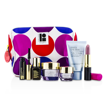 Estee Lauder Set de Viaje: Demaquillante 30ml + Advanced Time Zone Crema 15ml + Crema Ojos 5ml + ANR II 7ml + M�scara 2.8ml + Color Labios #61 3.8g + Bolsa  6pcs+1bag