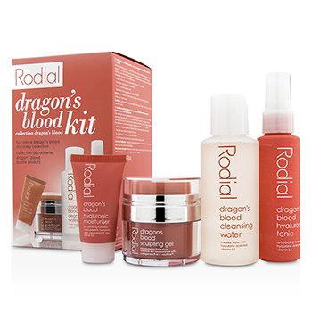 Rodial Dragon's Blood Kit: Cleansing Water 100ml/3.4oz + Tonic 50ml/1.7oz + Sculping Gel 9ml/0.3oz + Moisturiser 10ml/0.3oz  4pcs