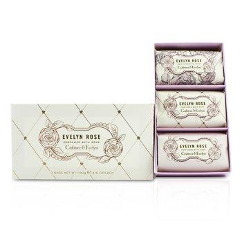 Crabtree & Evelyn Evelyn Rose Perfumed Bath Soap  3x100g/3.5oz