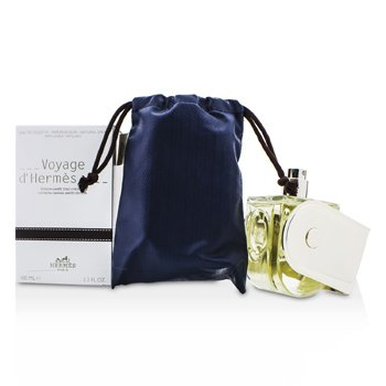 Hermes Voyage D'Hermes Eau De Toilette Refillable Spray (Chevon Canvas Limited Edition)  100ml/3.3oz