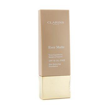 Clarins Ever Matte Skin Balancing Oil Free Foundation SPF 15 - # 107 Beige  30ml/1.1oz