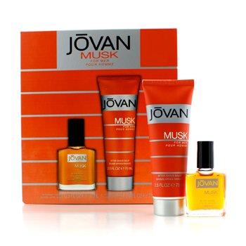 Jovan Musk Coffret: Despu�s de Afeitar 15ml/0.5oz + B�lsamo para Depu�s de Afeitar 75ml/2.5oz  2pcs