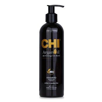 CHI Argan Oil Plus Moringa Oil Shampoo - Sulfate & Paraben Free  355ml/12oz