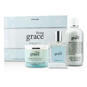 PhilosophyLiving Grace Coffret: Eau De Toilette Spray 60ml/2oz + Shower Gel 240ml/8oz + Body Cream 120ml/4oz 3pcs