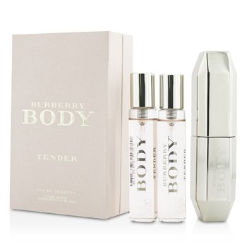 BurberryBody Tender Eau De Toilette Purse Spray & 2 Refills 3x15ml/0.5oz