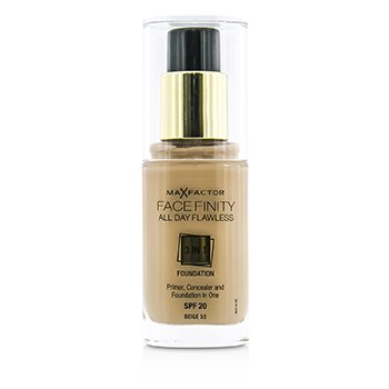 Max Factor Face Finity All Day Flawless 3 in 1 Foundation SPF20 - #55 Beige  30ml/1oz